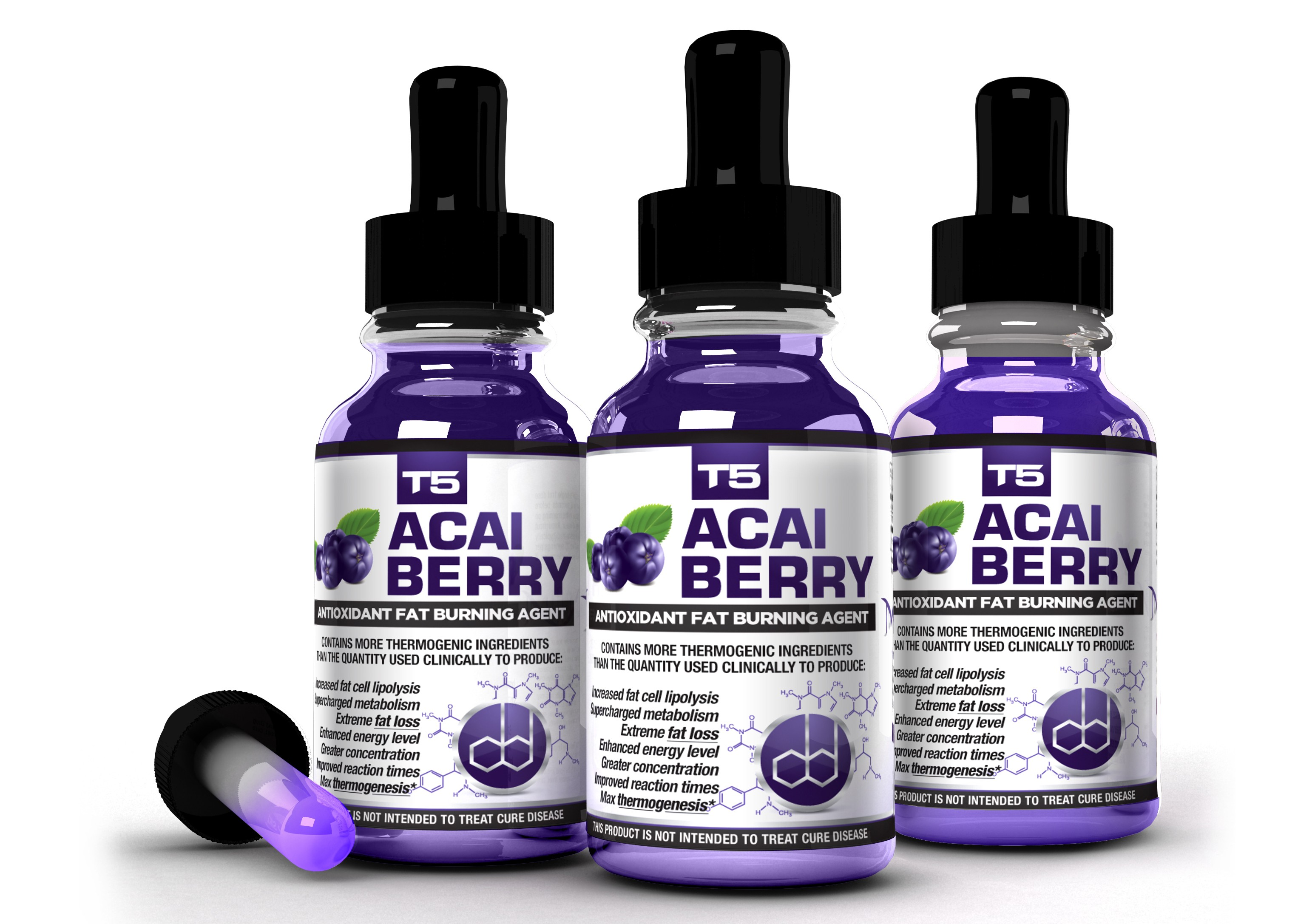 T5 Acai Berry 3 Bottle Bundle
