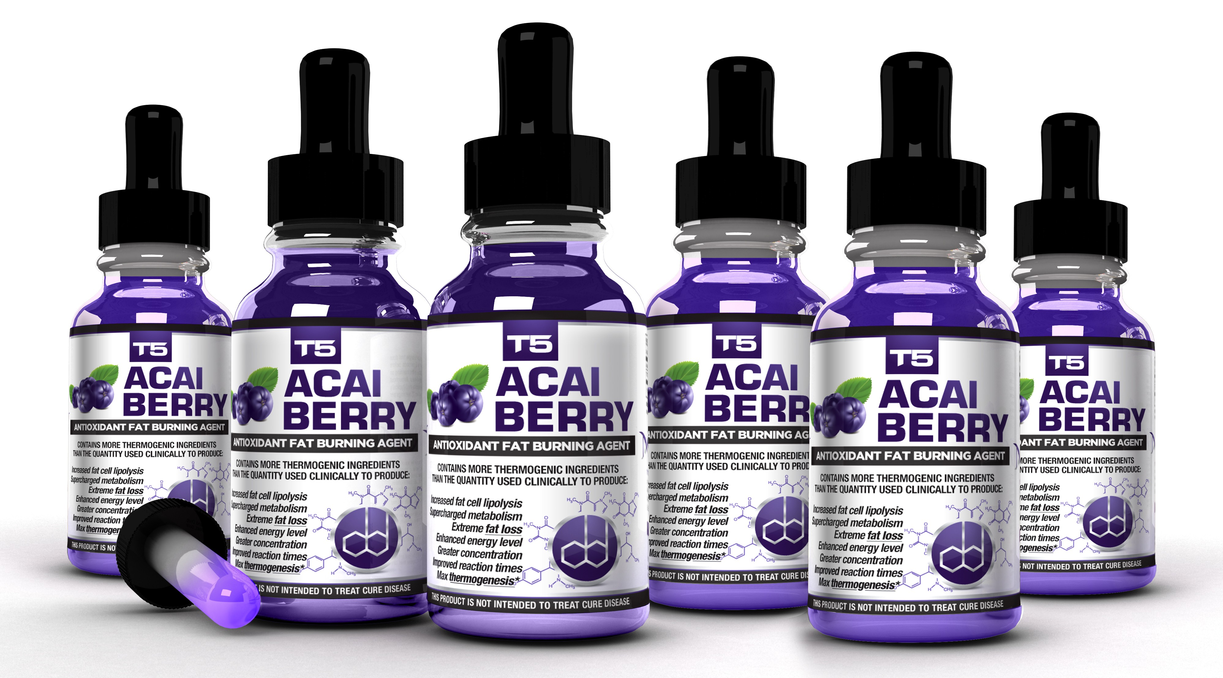 T5 Acai Berry 6 Bottle Bundle