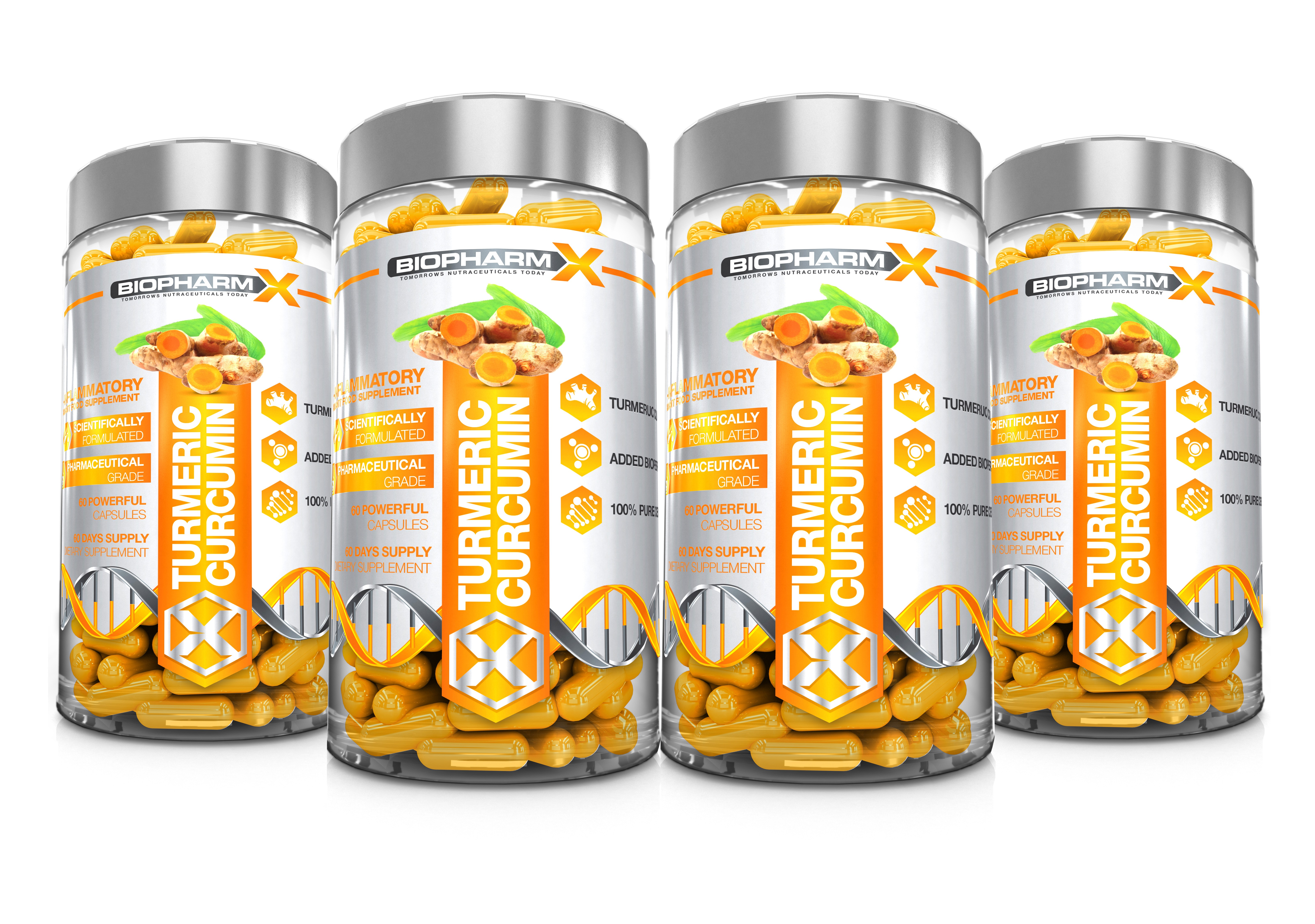 Turmeric Curcumin 4 Bottle Bundle