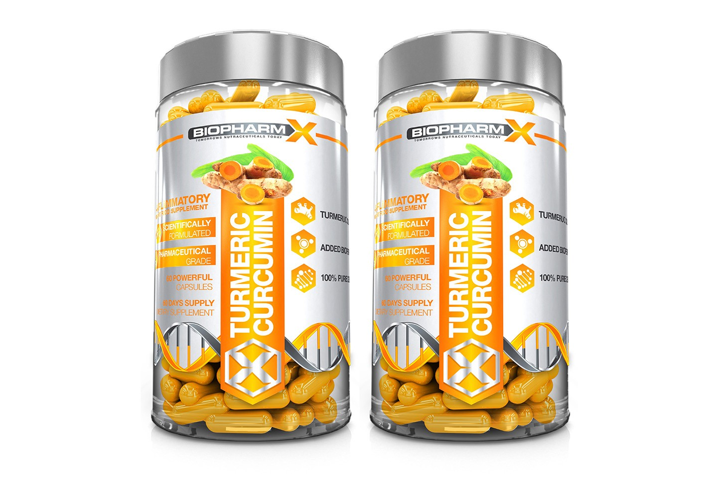 Turmeric Curcumin 2 Bottle Bundle